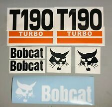 Bobcat T190 Turbo (SET OF 7) Skid Steer Replacement Aftermarket Vinyl Decals
