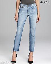 JOE'S JEANS $165 NEW Blue Denim Destroyed Straight Leg Ankle Jeans W28 L28 QCO