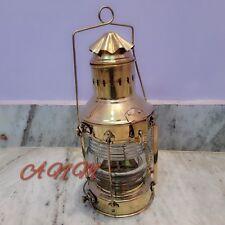 Brass Cargo Ship Railroad Oil Kerosene Burner Lantern Lamp Collectible