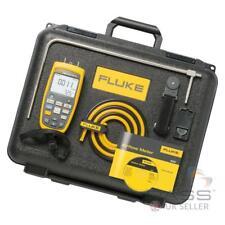 Genuine Fluke 922 Airflow Meter Kit w/ Pitot Tube, Hoses, Case & More
