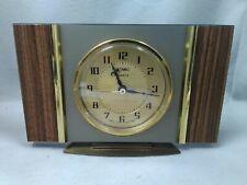 Vintage Mid Century Metamec Mantle Clock Original Quartz Full Working ID2305 B38