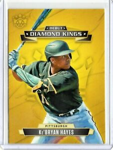 KEBRYAN HAYES Pirates 2021 MLB DIAMOND KINGS DEBUT INSERT