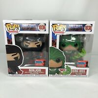 Masters Of The Universe Ninjor + King Hiss Funko POP 2020 Fall Exclusive In Hand