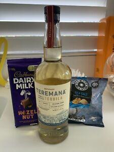 Gift Basket Hamper Teremana Tequila - Reposado 750ml Bottle Chocolate & Chips