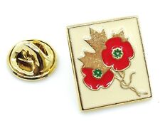 Canadian Remembrance Day Poppy Lapel Pin Canada Maple Leaf 1994-95