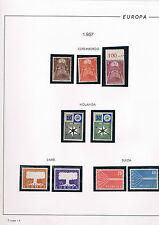Colección de sellos del Tema Europa de los Años  1956 a 1962