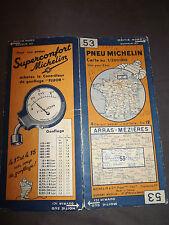 Carte  michelin 53 arras mezieres 1933