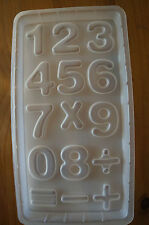 Numbers and Mathematical Signs Plastic Mold for Pudding Jello Cholocate Crafts