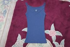 GAP Womens Juniors XS Navy Blue Tank Top Shirt, Spaghetti Strap Stretch Cami