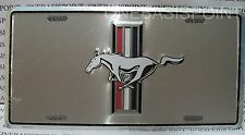 Ford Mustang Pony License Plate GT Chrome Aluminum Embossed Sign Car Tag Auto
