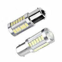 2x 12V BA15S P21W 1156 LED Car Backup Reverse Light White Bulb 33-SMD 5630 5730