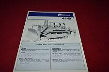 Fiat Allis Chalmers 41-B Crawler Tractor Dealer's Brochure YABE11 ver69