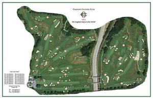 Oakmont 1903 Henry Fownes - Vintage Golf Course Map