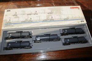 Coffret Marklin de wagons citernes VTG ref  en HO 4755