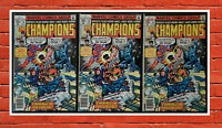 3x Copies of Champions #16 FN+ 6.5 1977 Marvel Comics with Magneto!