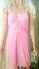 Vintage Pink Vanity Fair Nylon Full Slip Lingerie Nightie ~ 34