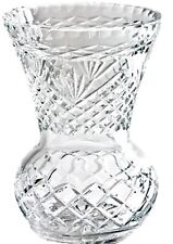 Swartons 24 Lead Crystal Flowers Vase Cut Crystal 20cm Ball Shaped With Flared