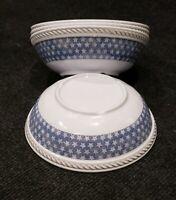 New Set of 4 Tommy Bahama Melamine Bowls Americana White/Nautical Blue Stars