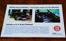 Tatra 613-4 'Electronic' leaflet Prospekt, 1991 (German text)