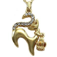 Sexy Princess Queen Kitty Cat 3D Crown Tiara Charm Pendant Necklace  n3023