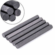 5Pcs 99.99% Graphite Electrode Cylinder Rod Black Length 100mm Diameter 10mm ^