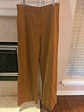 Diane von Furstenberg Linen Wide Flare Leg Pants 6