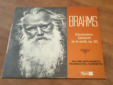 Brahms Clarinet Quintet REGINALD KELL & FINE ARTS QUARTET Swiss TURICAPHON LP NM