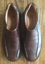 Clarks Unstructured Mens Brown Leather Casual Dress Slip On Loafers Shoes Sz 13M