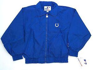 NWT Vintage Indianapolis Colts LOGO ATHLETIC Jacket Size L. Splash Hat Starter