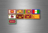 Aufkleber sticker bundesstaat lander flagge flaggen stempel fahne sri lanka