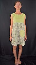 Vintage 60's Mod GoGo Scooter Babydoll Polka-Dot Floral Mini Dress Size XS/Small
