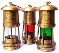 Antique Lot of 3 PCS Nautical Miner Oil Ship Lantern Maritime Lamp Home Decor