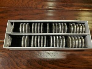 COMPLETE 1986-2020 35 COIN AMERICAN SILVER EAGLE 999 1 OZ SET in Guardhouse LOOK