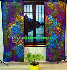 Indische Tie Dye Blumen Tüll Fensterschal Valance Mandala Vorhang Balkon Abdeckt