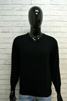 GIANFRANCO FERRE Maglione Taglia M Cardigan Pullover Lana Uomo Nero Man Sweater