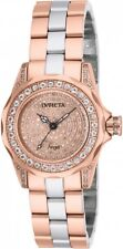 New Womens Invicta 16008 1.02ctw Diamond Dial Rose Tone Bracelet Watch