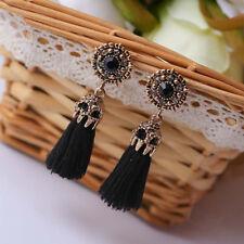 Vintage Style Rhinestones Crystal Tassel Dangle Stud Earrings Fashion Jewelry UK