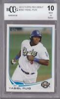 YASIEL PUIG 2013 TOPPS PRO DEBUT #35A BCCG 10 GRADED CARD (BGS)