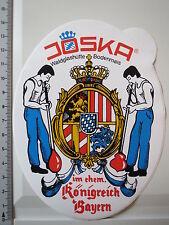 Aufkleber Sticker Joska Waldglashütte Bodenmais - Ehem. Königreich Bayern (2702)