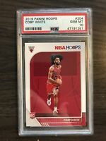 2019-20 Panini NBA Hoops Coby White Rookie PSA 10 Chicago Bulls RC