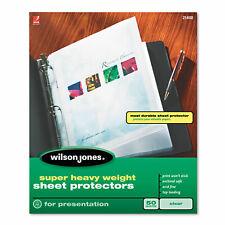 Wilson Jones Top Loading Super Heavy Sheet Protectors Letter 50box 21400