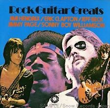 """THE GUITAR GREATS VINYL LP RECORD 12"""" HENDRIX, PAGE , WILLIAMSON, BECK, CLAPTON"""