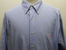 Ralph Lauren Men Dress Shirt Light Blue Gingham 100% Cotton 17 34/35
