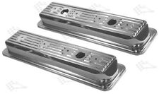Chrome Valve Covers - SB Small Block Chevy 305-350 - 1987 Up - OEM Style 2-3/8""