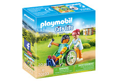 Playmobil ® 70193 Patient en fauteuil roulant - City life - Neuf - New - nuevo