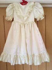"Vintage 1990s Handmade Girls Cream / Peach Bridesmaid Dress 24"" Chest 4 Years"