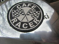 Iron or Sew on Cafe Racer patch for jacket Yam Triumph Honda Rocker Kaw RD