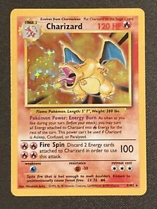Charizard 4/102 Holo Holographic 1999 Pokemon Base Set GRADEABLE PSA BGS