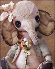 Alla Bears Antique Vintage Elephant designer pink heart baby shower house decor