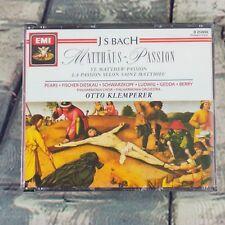 Bach Matthaus St. Mathew Passion EMI Music 3 CD Disc Set